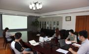职业经理研究中心团支部组织学习《中国共产主义青年团团旗、团徽、团歌制作使用管理规定》